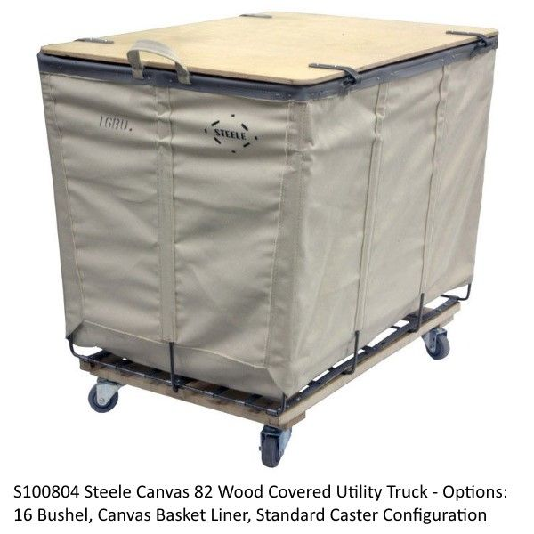 Steele Canvas 82 Wood Covered Utility Truck - Laundry Cart