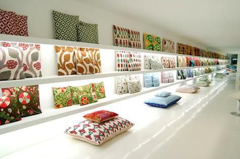 """Rifat Ozbek made his name in the 1980s as a fashion designer known for his exotic prints and fabrics; his transition to home products is a natural one. In 2005 he opened Yastik (Turkish for cushion), an emporium for richly patterned limited edition pillows (""""A cushion is a luxury; a reminder of a journey, a memory of a dream,"""" Ozbek says). Ozbek has two locations in Turkey, one in Istanbul and another in the seaside town of Cesme, as well as a shop in London; for information, go ..."""