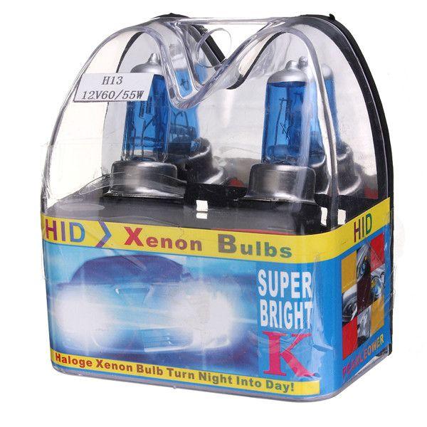 H13 9008 xenón blanco escondió bombillas de los faros de luz de carretera bajo /
