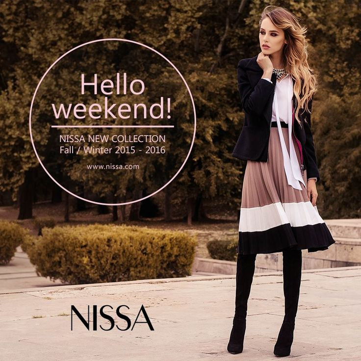 #nissa #new #collection #fw #fw2015 #fashion #fashionsita #outfit #look #style #autumn #fall #outdoor #model #skirt #wind #hair  www.nissa.com