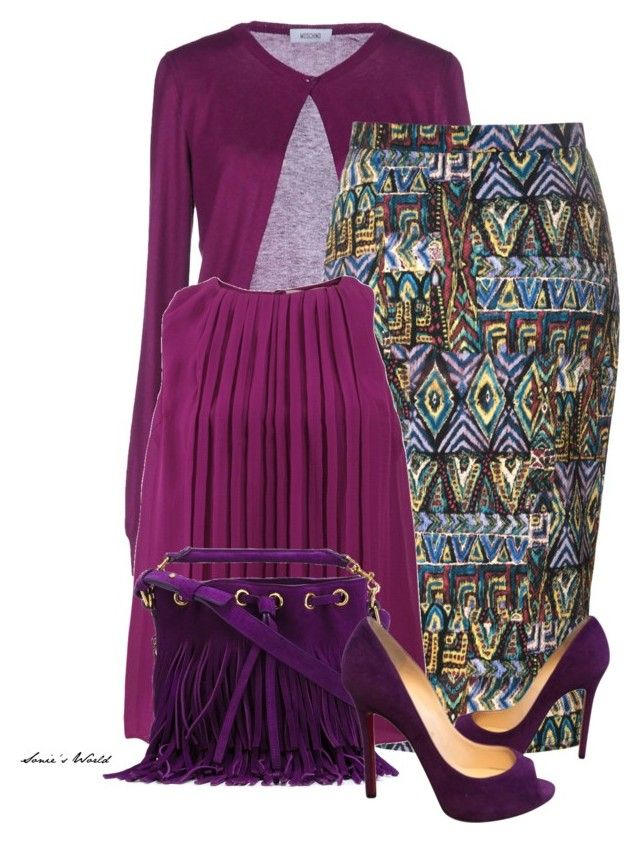 """""""Ethnic outfit 2"""" by sonies-world on Polyvore featuring Moschino, Glamorous, Etro, Yves Saint Laurent and Christian Louboutin"""
