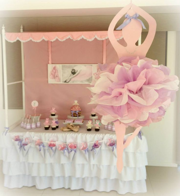 Top 25 best ballerina party ideas on pinterest for Baby full month decoration ideas