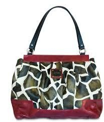 This is a retired #Miche Prima Shell for the Big Bag. Features a giraffe print faux leather with rich red detailing with coordinating red faux leather backing. I...
