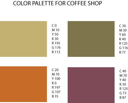 Color Palette For Coffee Paint Colors