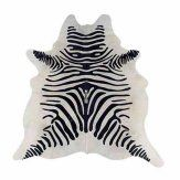 Linon Cowhide Zebra Print Rug,  not sure it's quite right