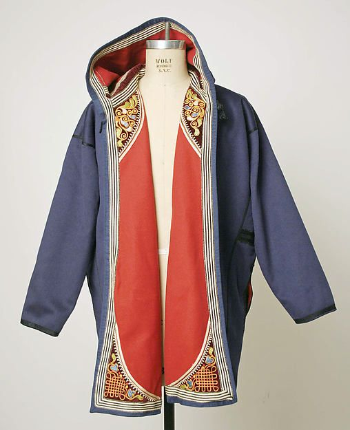Coat 1900–1925 ,  Greek (Crete) wool, cotton, silk