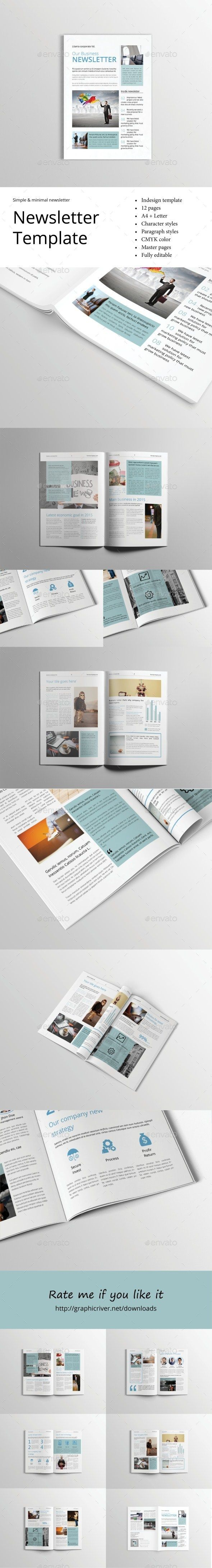 #Newsletter Template - Newsletters #Print #Templates Download here: https://graphicriver.net/item/newsletter-template/13797343?ref=alena994