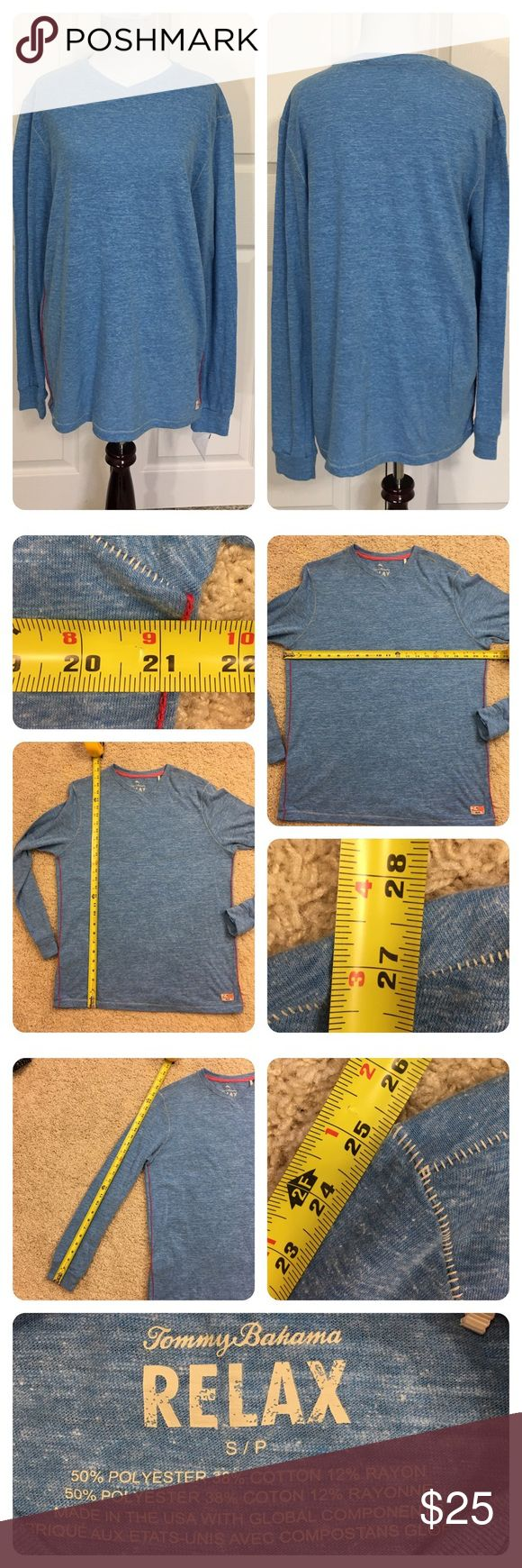 "NWT!  Tommy Bahama Relax long sleeve t-shirt New with tags from a secondary market store. Blue ""Relax"" long sleeve t-shirt. Soft and comfortable! Tommy Bahama Shirts Tees - Long Sleeve"