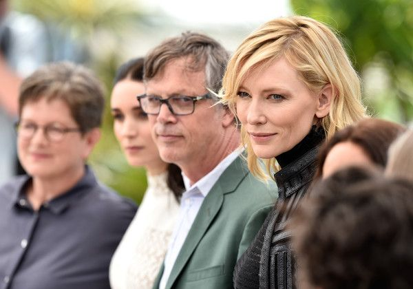 "Cate Blanchett and Rooney Mara Photos Photos - (L-R) Scriptwriter Phyllis Nagy, actress Rooney Mara, director Todd Haynes and actress Cate Blanchett attend a photocall for ""Carol"" during the 68th annual Cannes Film Festival on May 17, 2015 in Cannes, France. - 'Carol' Photocall - The 68th Annual Cannes Film Festival"