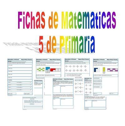 Matemática de 5º Ejercicios de matemáticas de cálculo, números, con fichas de multiplicación, división, fracciones, problemas para pensar, ideales para dar un repaso a la primera evaluación o ejercicios para repasar en casa. Gracias a Celia Rodriguez Ruiz y su blog Educa y Aprende