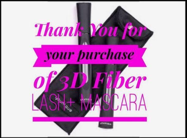 Thank you for your 3D Fiber Lash Mascara Plus order! #Younique #ClickImageToShop #Questions #EmailMe sarahandbrianyounique@gmail.com or comment below