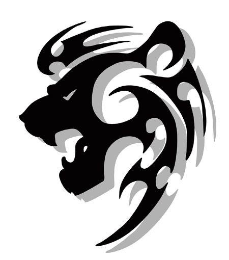 tribal animal designs | Tatouage lion, signe astrologique du lion : signification et modèles ...
