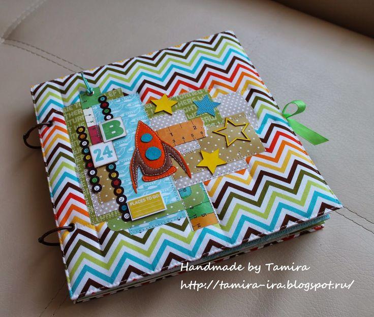Handmade by Tamira: Альбом в американском стиле для мальчика