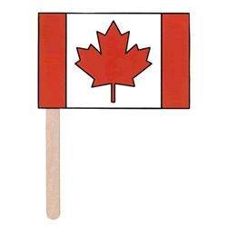 Canada Day craft for kids - Canadian flag. Color, cut out, and glue