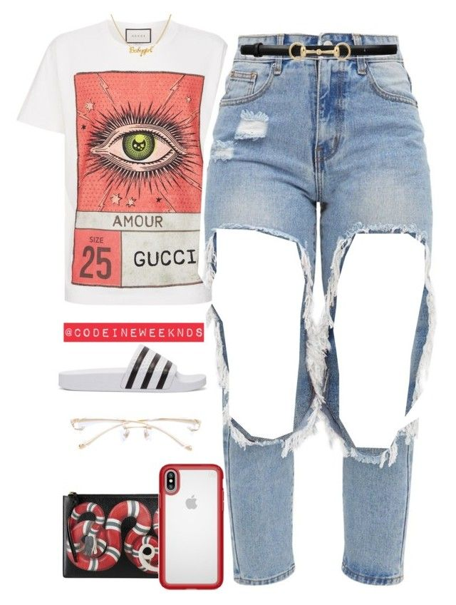 """Feb/19/18"" by codeineweeknds ❤ liked on Polyvore featuring Gucci, adidas Originals, Speck and Cartier"