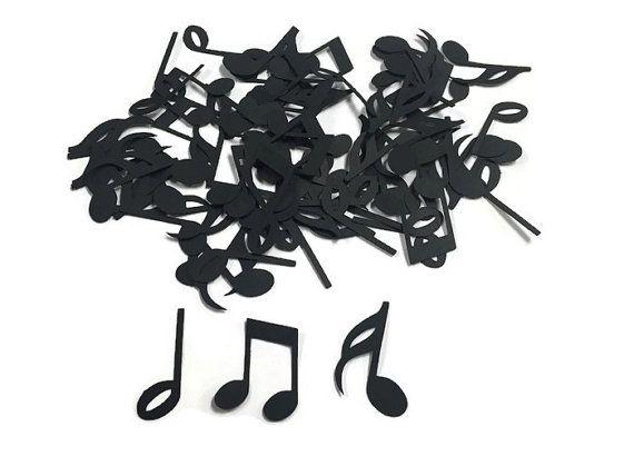 100 Assorted Music Note Confetti, Die Cut, Rockstar Baby Shower, Music theme Party, Rockstar Décor, Rock Star Birthday Party, Music Birthday