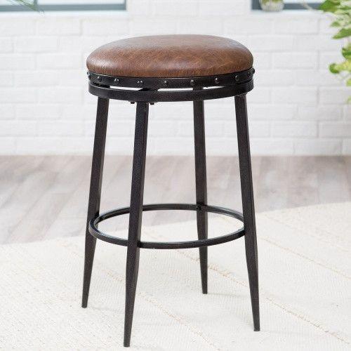 belham living telluride swivel backless bar stool bar stools at hayneedle