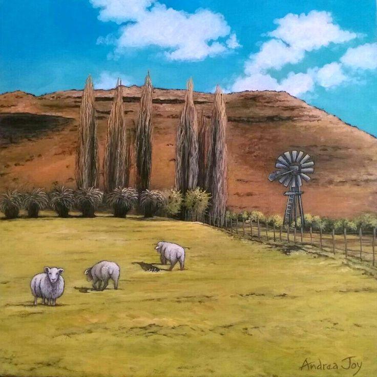 'The Karoo' - Acrylic on Canvas (40 x 40cm)