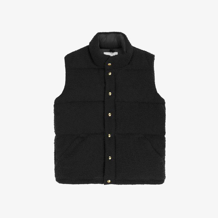 Aimé Leon Dore — Nubby Wool Down Vest (Black)