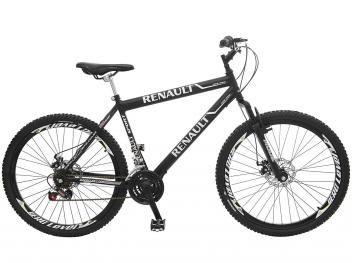 Bicicleta Colli Bike Renault Suspensão Dianteira - Aro 26 21 Marchas Quadro de Aço Freio A Disco