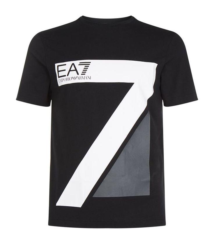 EA7 Large 7 Logo Short Sleeve T-Shirt. #ea7 #cloth #