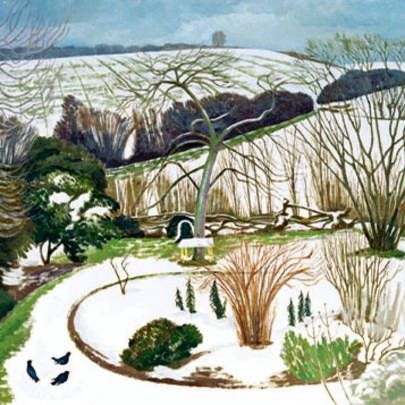 John Nash - a Garden in Winter
