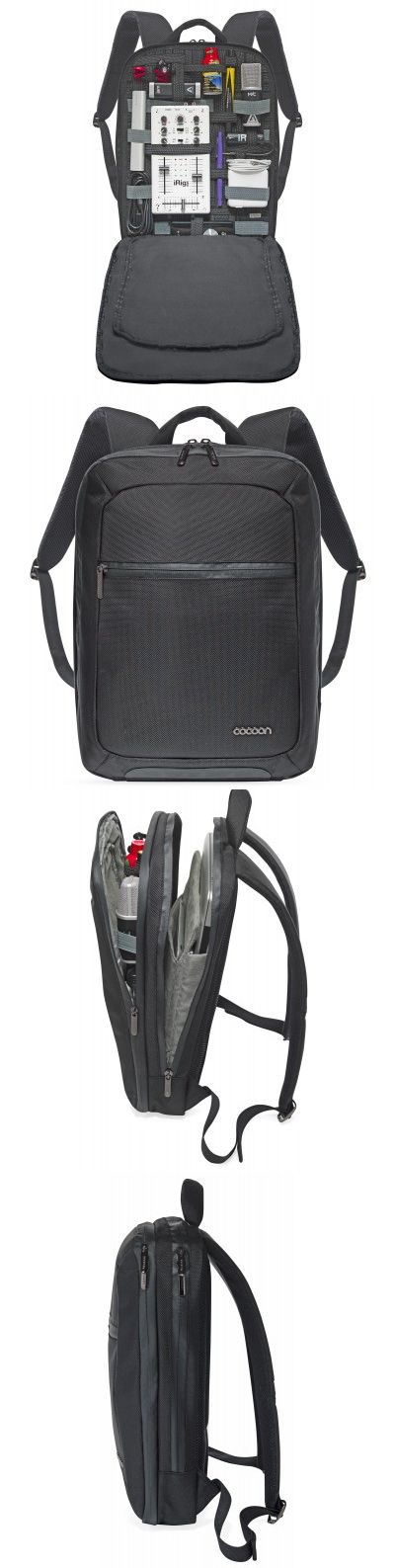 Cocoon SLIM Backpack. This backpack can hold and organize your electronics and a 15in laptop.