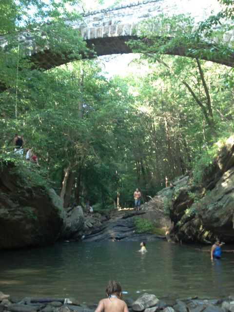 Wissahickon swimming hole in Philly | This just doesn't go anywhere