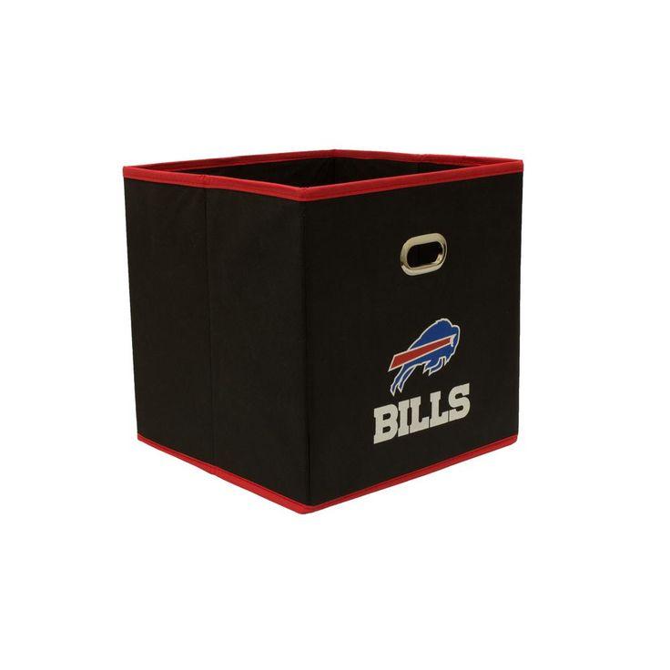 Buffalo Bills NFL Store-Its 10-1/2 in. W x 10-1/2 in. H x 11 in. D Black Fabric Drawer, Buffalo Bills/Black