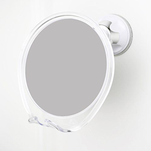 nice no fog shower mirror with rotating locking suction next step in shaving mirror