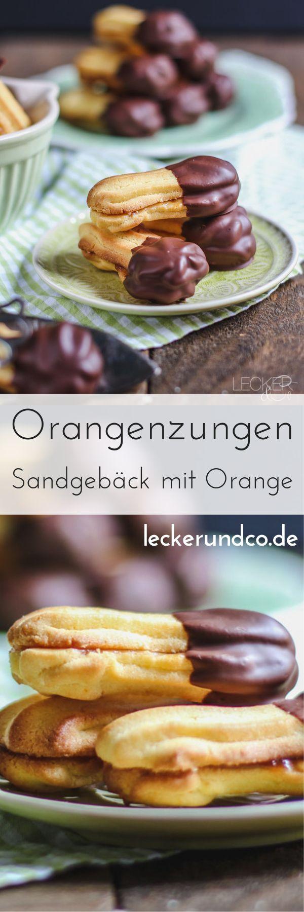 Orangenzungen   Sandgebäck