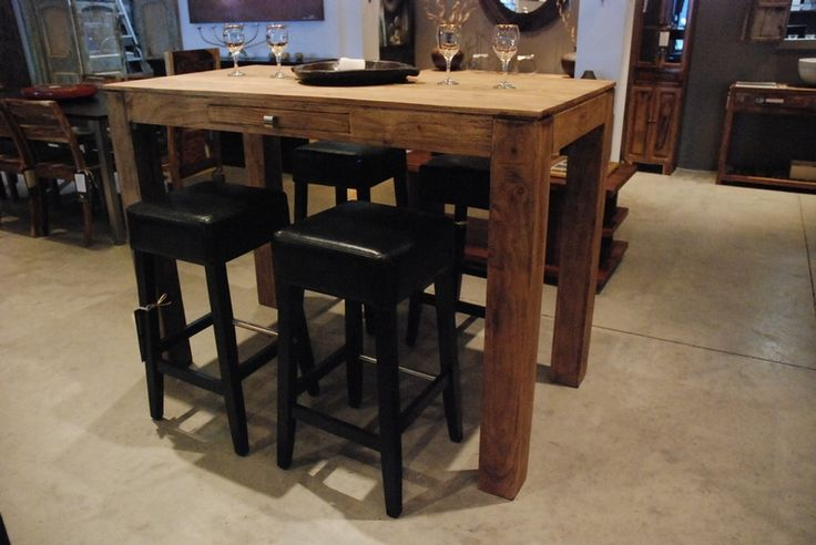 Wooden Bar Table Our New Home Pinterest
