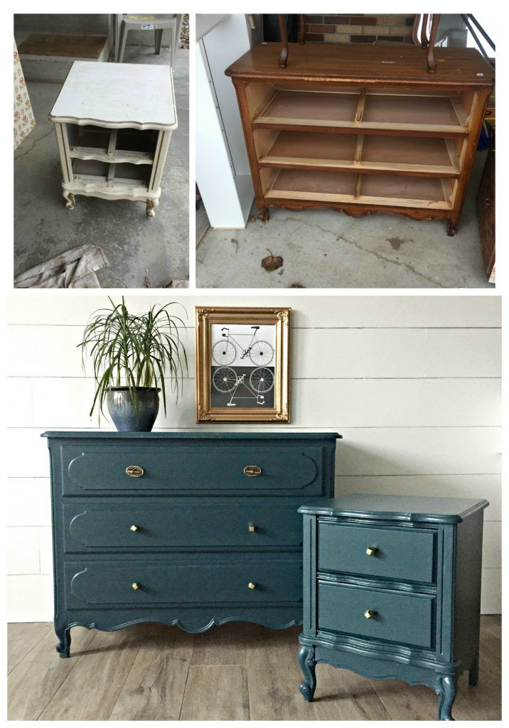 From mismatched to match-made-in-Heaven. Tips and tricks for painting old furniture. 4men1lady.com
