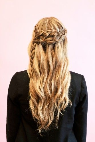 braid hair tutorials. beach braid & faux-braided updo.