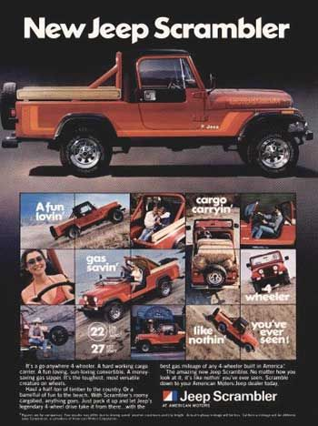 Jeep Scrambler advertisement from 1980.
