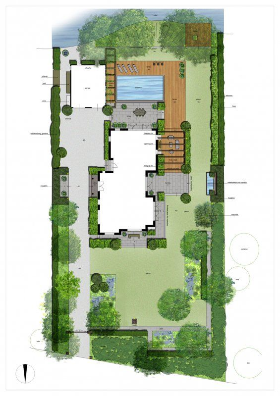 Tuinontwerp google suche garden pinterest for Villa landscape plan