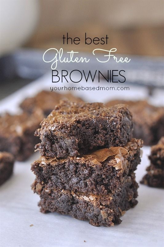 The BEST Gluten Free brownies -  no one will know they are gluten free!