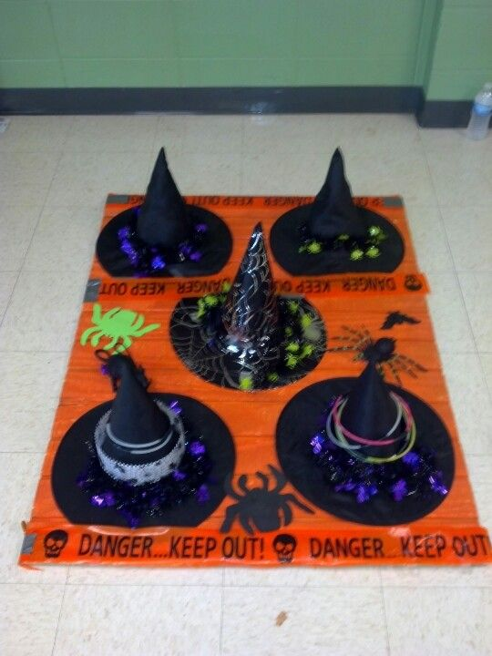 Witch Hat Ring Toss | Kinder halloween party | Pinterest ...