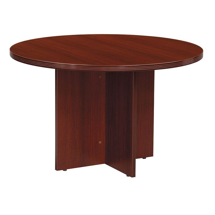 "Contemporary Round Conference Table - 47""DIA 