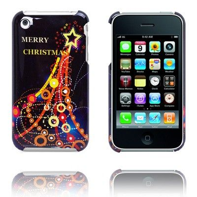 Merry Christmas (Eiffel Tower) iPhone Cover til 3G/3GS Lux-case.dk