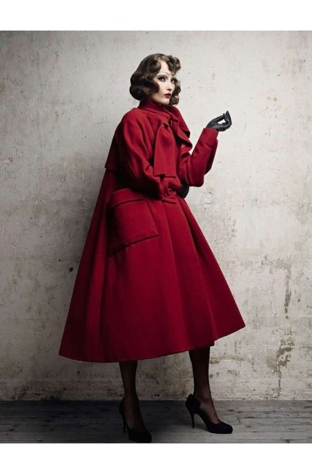 """Arizona"" coat, f:w 1948, Christian Dior Vogue Russia June 2011 (History of Fashion) Photo Patrick Demarchelier 2011"