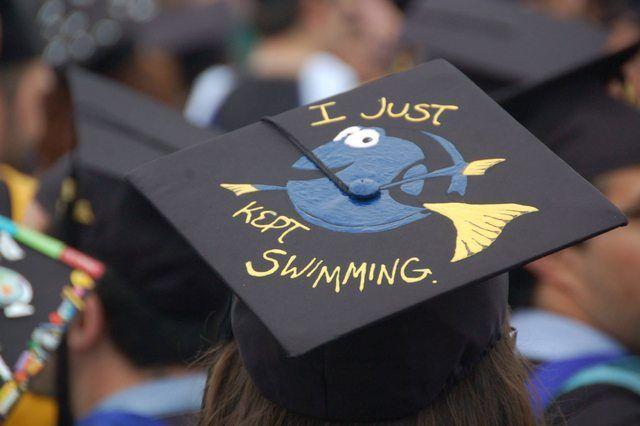 Dory graduation cap