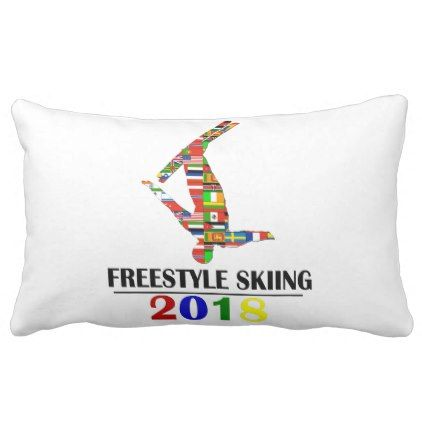 2018 FREESTYLE SKIING LUMBAR PILLOW - winter gifts style special unique gift ideas