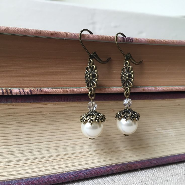 A personal favorite from my Etsy shop https://www.etsy.com/listing/234848335/leverback-earrings-with-ivory-swarovski