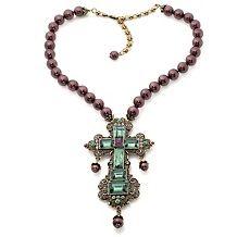 "Heidi Daus ""Faithful Expression"" Cross Drop Necklace"