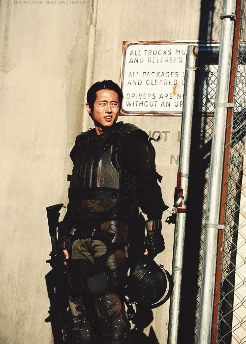 Glenn Rhee. Any one else think that when he took his helmet off he was gonna get shot in the head?