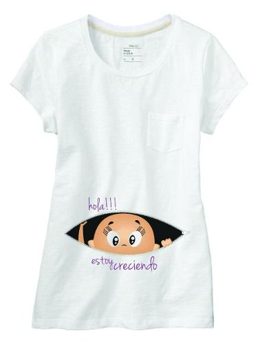 Remeras Embarazada Futura Mama Personalizadas Baby Shower -   199 6f5ae107fac48