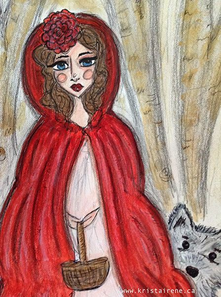 Little Red Riding Hood - artwork by Krista Irene Tannahill