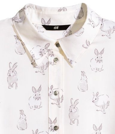 Rabbit shirt. perfect for work! Product Detail H&M US
