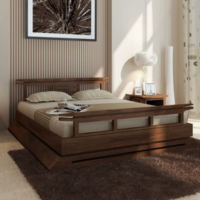 Kondo Teak Platform Bed Organization Home Platform Bed Bed